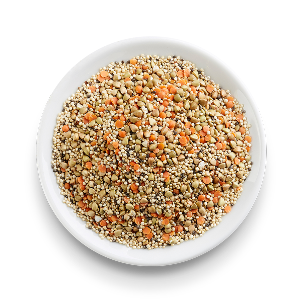 Organic Quinoa, Buckwheat, Red Lentils and Chia Mix